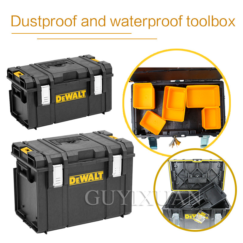Multi-purpose Toolbox Waterproof And Dustproof Heavy-duty Portable Plastic Box DS150/300/400 Ochre Series Toolbox