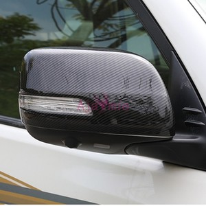 Car Styling Side Wing Mirror Cover Rear View Overlay Car Styling For Toyota LC Land Cruiser 200 Accessories