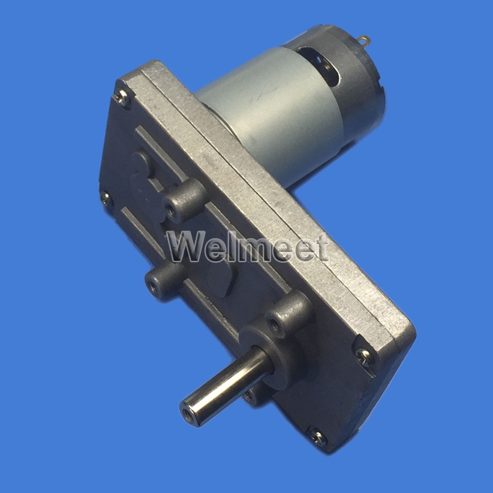 DC 3V-12V 30-130RPM Mini Worm Gear Geared DC Motor Gearbox Speed Reductor Motor