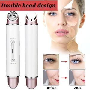 Image 1 - تردد LED فوتون الوجه تجديد الجلد مزيل التجاعيد رئيس مزدوج RF & EMS راديو ميزوثيرابي قلم تجميل الوجه