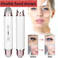 כפול ראש RF & EMS רדיו מזותרפיה Electroporation פנים יופי עט תדר LED פוטון פנים התחדשות עור מסיר קמטים