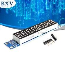 MAX7219 LED matrice de points 8 chiffres Module de contrôle d'affichage de Tube numérique 3.3V 5V microcontrôleur pilote série 7 segments