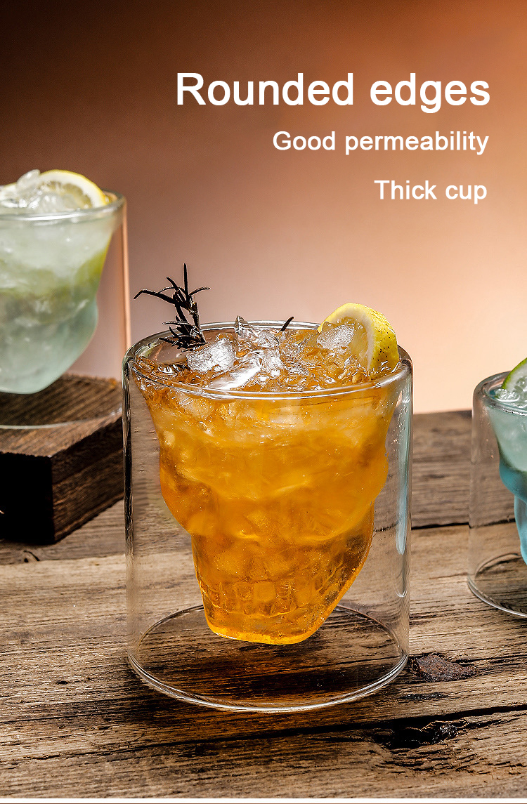 Crystal Skull Cups - Double-Layered Transparent