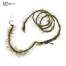 MNFT 2 adet sazan olta gerçekçi ot kurşun çekirdek 35lb hattı dikenli kanca boyutu 2 4 6 8 fırdöndü saç rig balıkçılık araçları