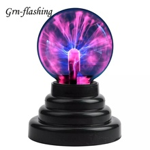 цена на Novelty Plasma Magic Ball Lamp Electrostatic Sphere Light USB AAA Powered Touch Night Light Children Gift Bulb Home Decoration