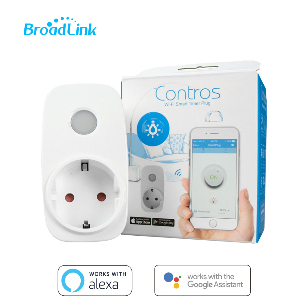 BroadLink SP3 16A Power Socket Wifi Smart EU Plug Outlet Remote Control Work With Amazon Alexa Google Home Siri IFTTT For Home