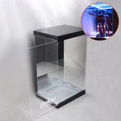 1/6 30cm Action Figure Display Fall Staubdicht Acryl Carving Schaufenster Box mit Lichter