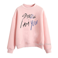 Kpop Stray Kids I AM YOU Letters Print hoodie women kawaii winter hoody female pink sweatshirts turtleneck pullover Graphic цена 2017