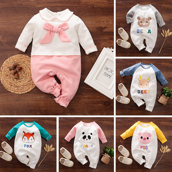 Baby Newborn Boy Clothes New Born Girl Romper Onesie Jumpsuit Rampers Fall Clothing Kids Twins Infant 0 3 6 9 12 Months Outfit image
