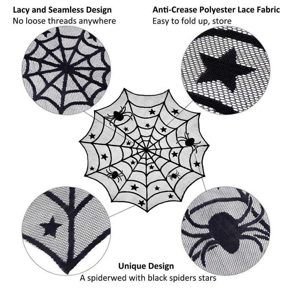Plástico Transparente Arañas Web Halloween Decoración De Fiesta Mantel Vajilla