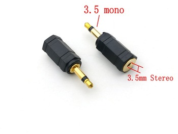 4pcs Gold 3.5mm Mono Plug(Male) to Stereo Jack(Female) Adaptor - sale item Electrical Equipment & Supplies