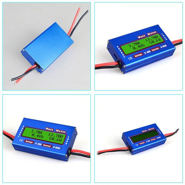 DC 60V 100A Balance tension batterie analyseur de puissance RC Watt mètre vérificateur professionnel Watt mètre équilibreur chargeur RC outils 57BF