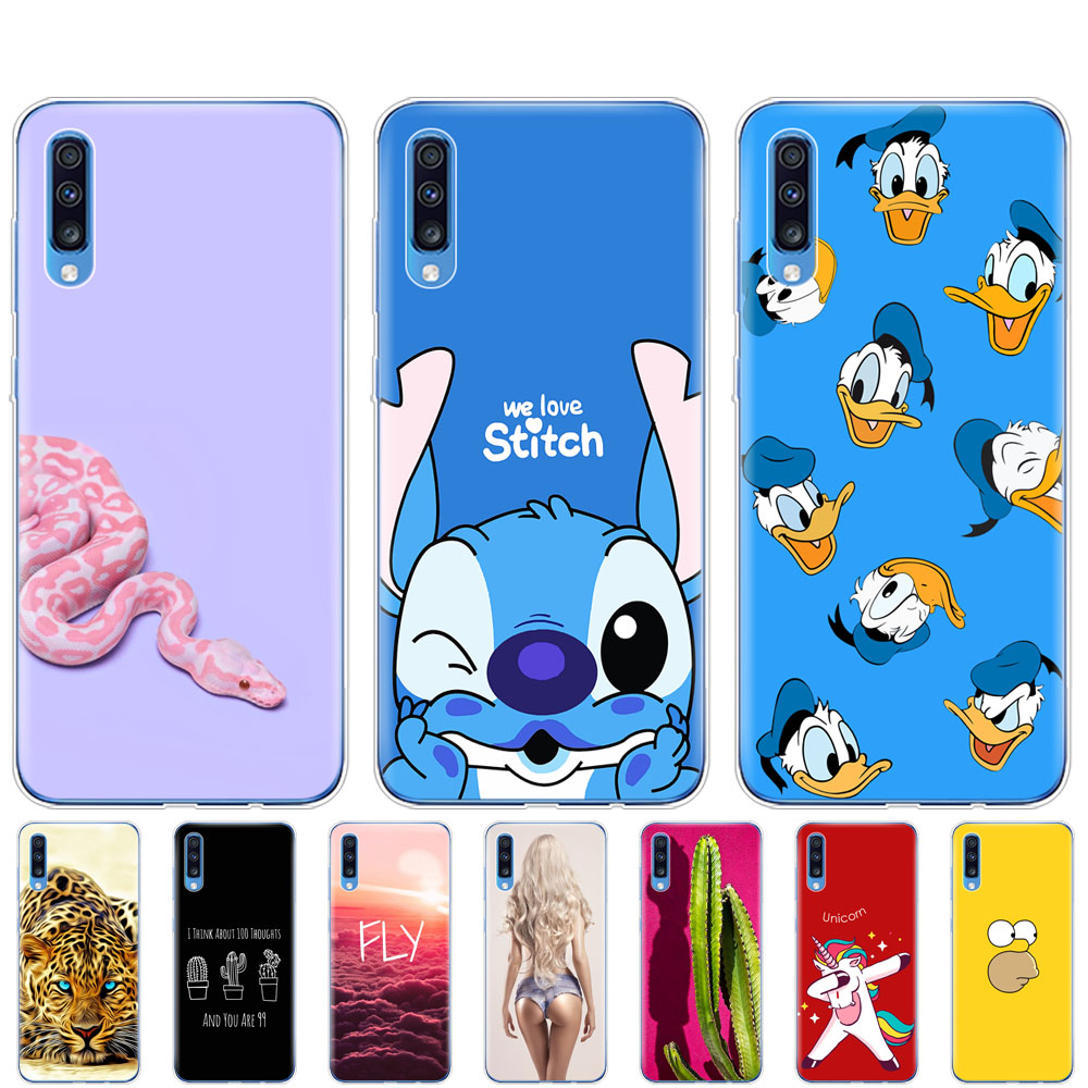 For <font><b>Samsung</b></font> <font><b>A70</b></font> Case <font><b>2019</b></font> bumper Soft TPU Phone <font><b>Cover</b></font> on For <font><b>Samsung</b></font> Galaxy <font><b>A70</b></font> silicone Capa A 70 A705 A705F coque shockproof image