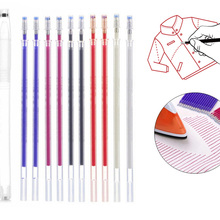 Erasable Faded Fabric Marking Pencil 10pcs/Set High Temperature Disappearing Marker Pen for DIY Leather Sewing Accessories