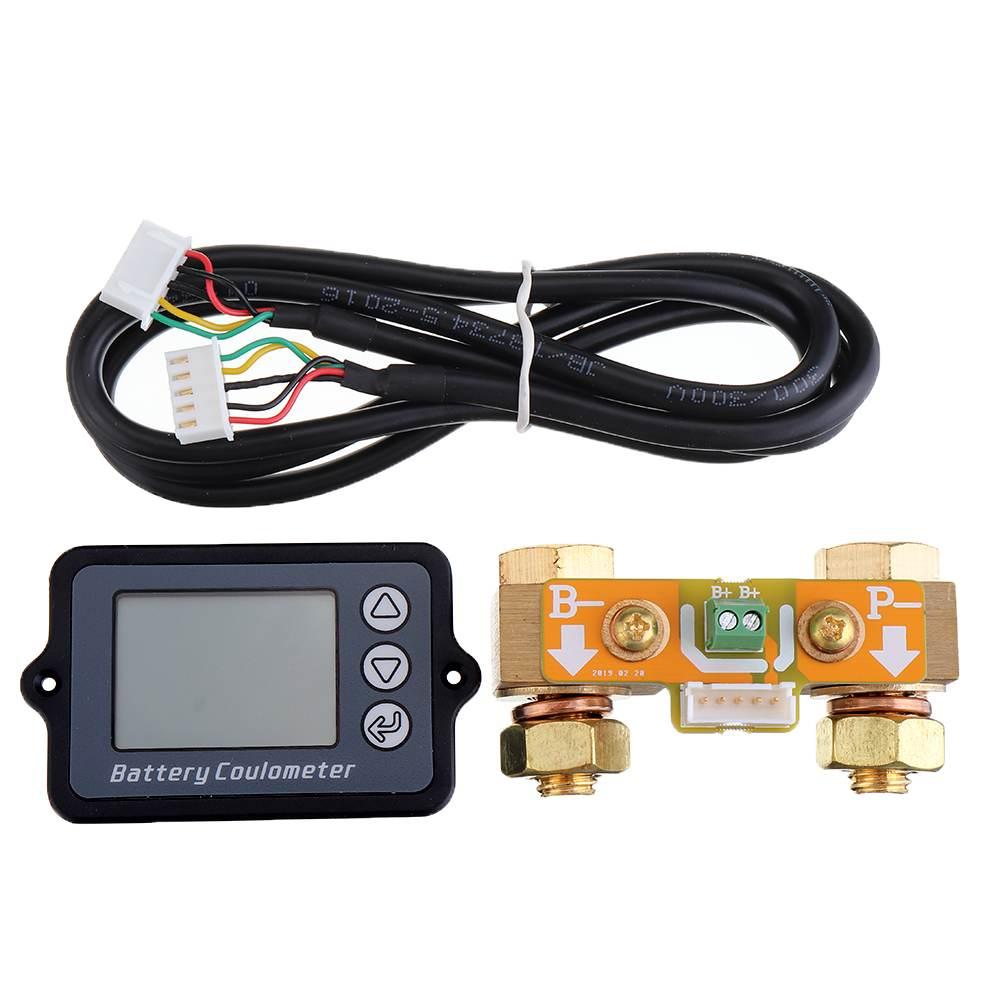 Indicateur de capacité de la batterie du compteur Coulomb 80V 350A indicateur de niveau de puissance coulomètre testeur de batterie au Lithium professionnel