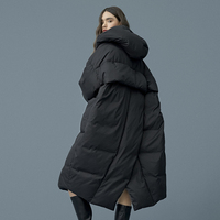 S 7XL plus size Winter oversize Warm Duck down coat female X Long Down Warm Jacket Hooded Cocoon style thick warm Parkas F192