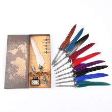 New European-style British style feather pen, the best gift for students in school season