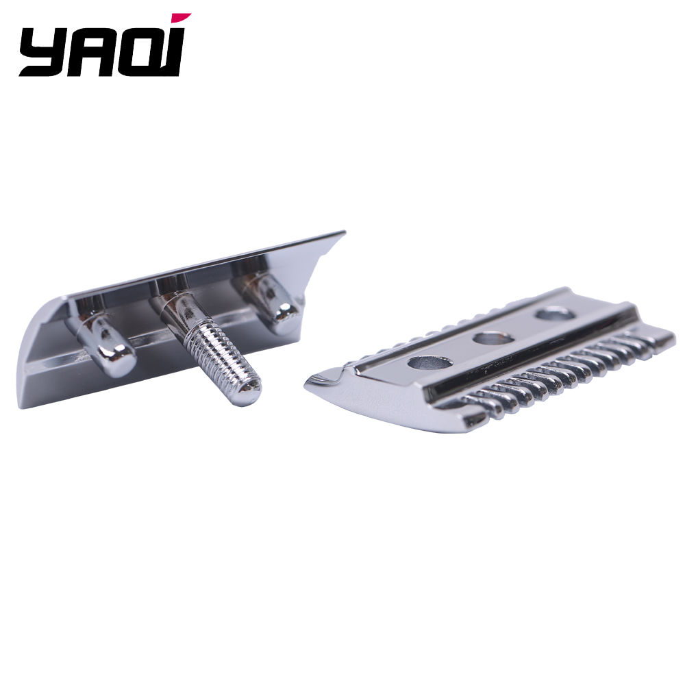 """The ""FLIPSIDE by Yaqi"" A Dual Comb Dual Aggression Level Razor Head In Chrome"