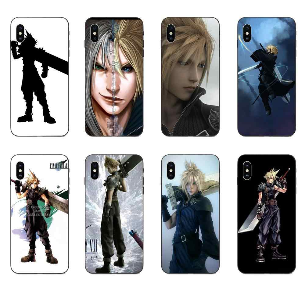 Pour Galaxy A3 A5 A6 A6s A7 A8 A9 A10 A20E A30 A40 A50 A60 A70 A80 A90 Plus 2018 Souple coque élégante Cloud Troubles Final Fantasy