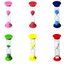 2 минуты Песочные часы цветные маленькие песочные часы 120 секундный таймер креативные детские подарки на день рождения