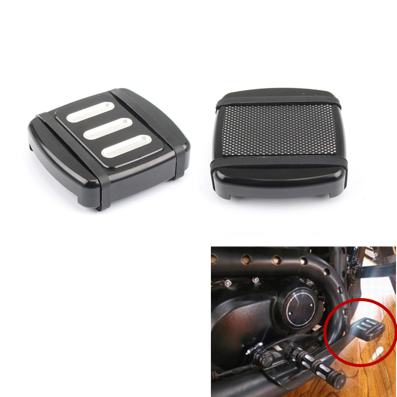 Motorcycle Edge Cut Small Brake Pedal Pad Cover Footpegs For CVO XG Sportster Dyna Softail Cnc  Aluminum Road King