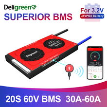 Inteligentny BMS 20S 30A 40A 60A 60V BMS dla 3.2v akumulator litowy 18650 LiFePO4 akumulator