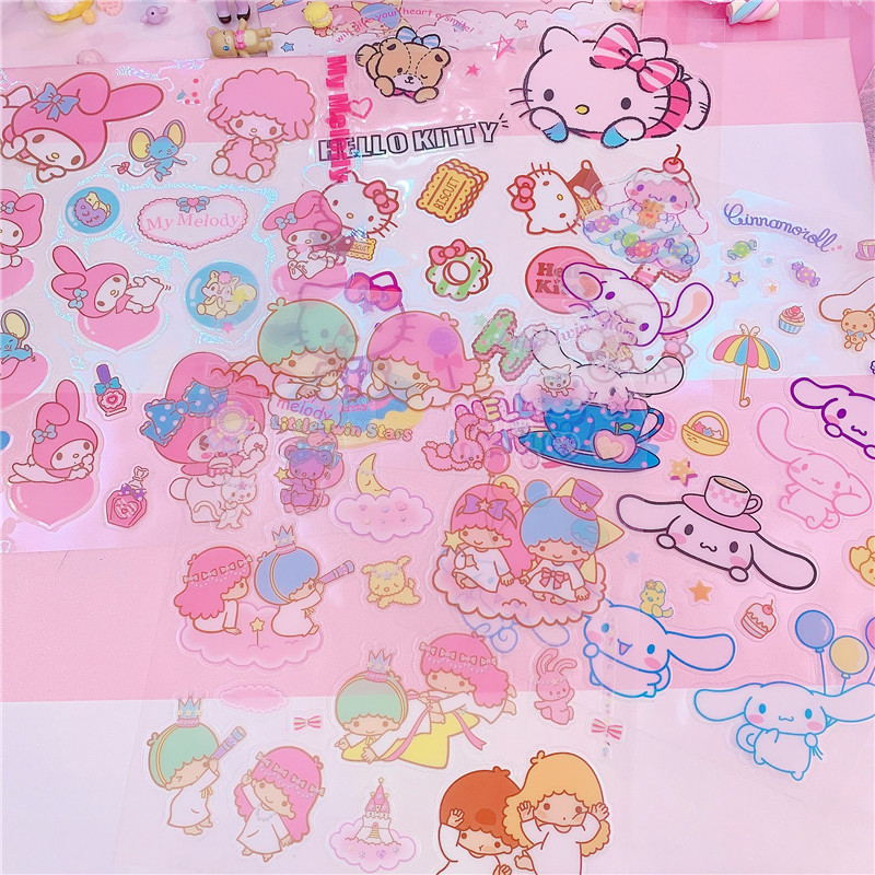 Phone Stickers Cartoon Melody Scrapbook Stick Label Stickers Pack Books Diary Stationery Album Funny Sticker Classic Toys
