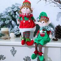2020 السنة الجديدة عيد الميلاد ديكور المنزل كبيرة أفخم Elf الجان دمى اللعب شجرة عيد الميلاد الحلي الاطفال مهرجان الهدايا قلادة 48X16 سنتيمتر