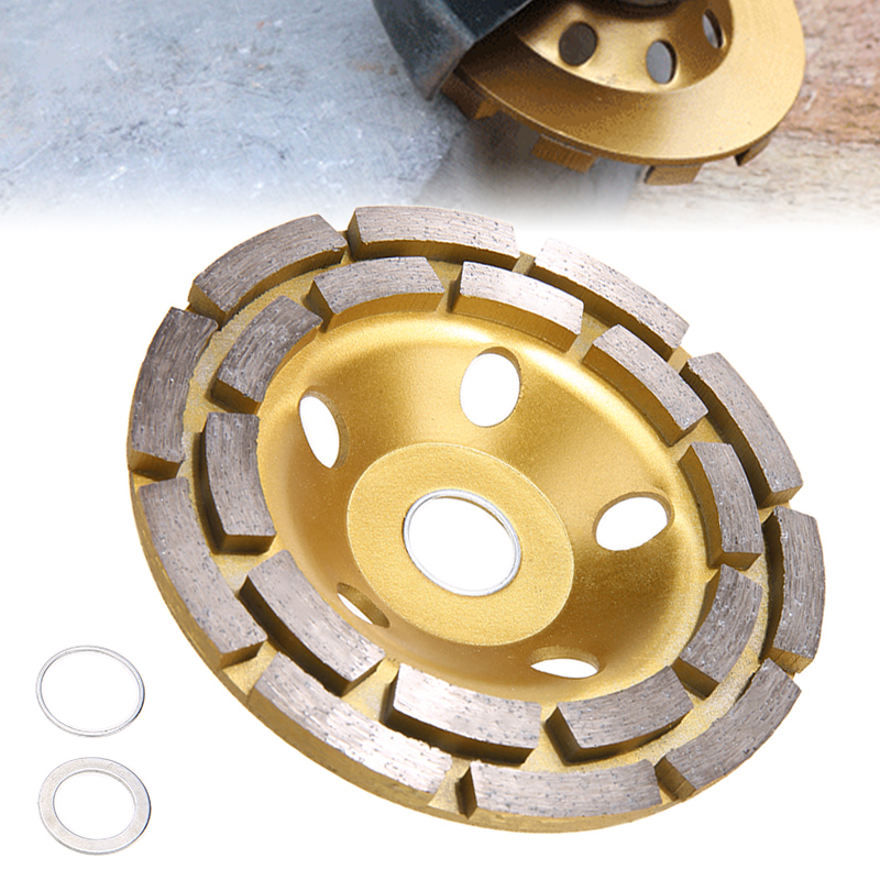 125mm Diamond Grinding Disc Diamond Disc Bowl Grinding Cup Wheels Double Row Grinding Disc Brick Concrete Cut For Angle Grinder