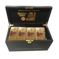 1200pcs Zimbabwe Gold Banknotes $Z100 Trillion/100 Quintrillion/5 Octillion/100 Decillion Dollar Fake Money Paper Bill Gift