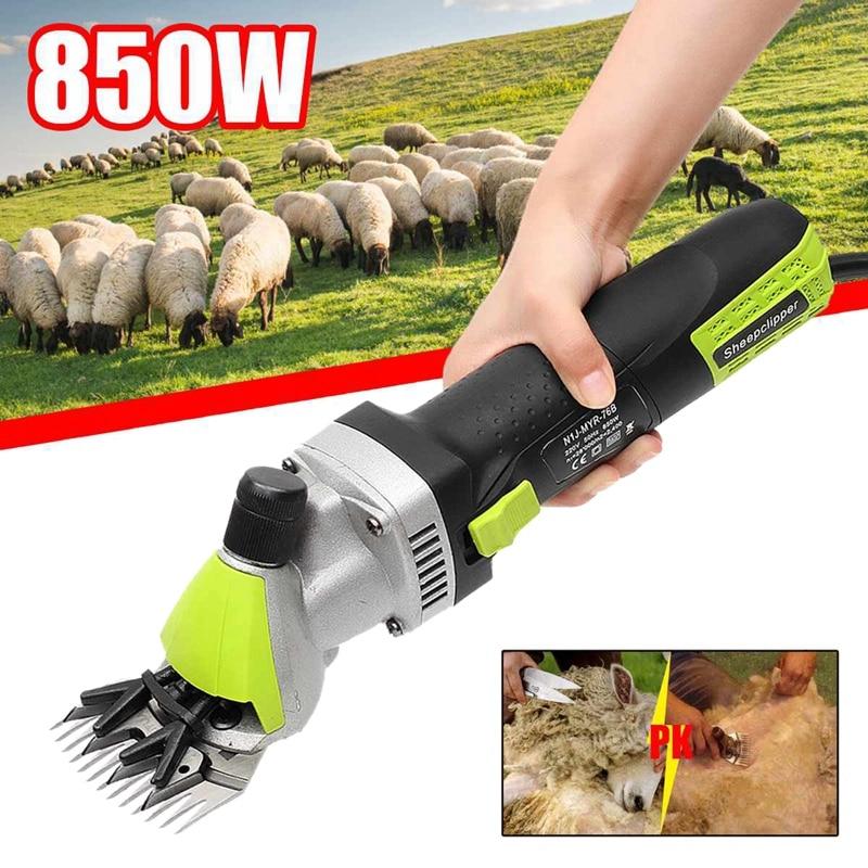 220V 850W Electric Wool Shear Shearing Sheep Goats Clipper Pet Trimmer Cut