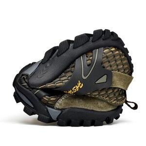 Image 4 - ビッグサイズ 39 48 男性登山靴メッシュbreathalbe屋外トレッキングスニーカー快適な登山靴男性