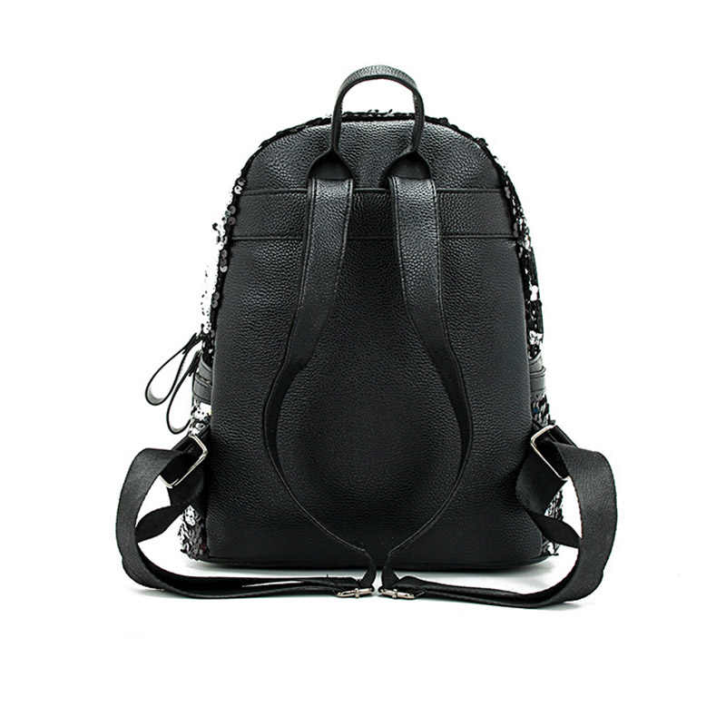 Spring Korean version of the new casual 100-pack double-shoulder sequin stitched anti-theft backpack cute girl bag  backpack