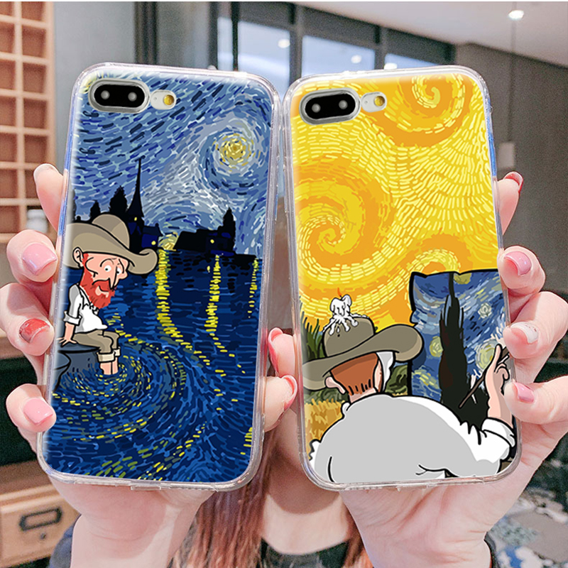 Van Gogh in modern Mobile Phone Case For Xiaomi Mi 3 4 4C 4I 4S 5 5C 5S 6 8 Lite SE 9 A1 Mi 5X A2 3D Housing Cover Bag|Fitted Cases|   - AliExpress