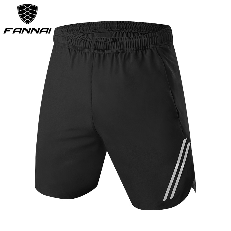 FANNAI Men Running Shorts Fitness Ridiing Quick Dry Brethable  New With Zipper Pocket Night Run Reflective Design Sport Shorts