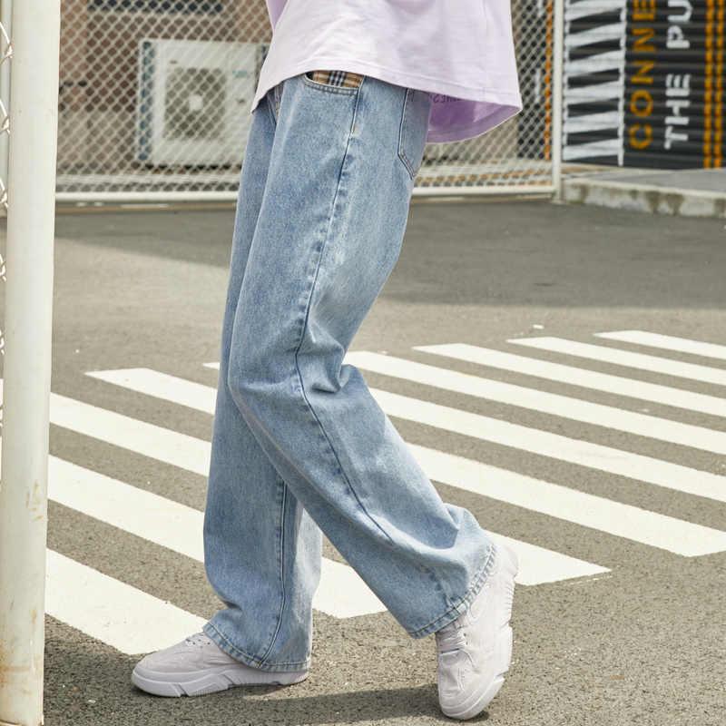 Metersbonwe Lose Jeans Weibliche Breite bein Jeans 2020 Frühling Neue Chic Denim Hosen Hohe Qualität Streetwear Beiläufige Lose Jeans