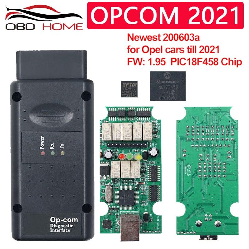 OPCOM 2021 OBD2 автомобильные аксессуары диагностический инструмент OPCOM V1.99 для opel с PIC18F458 FTDI OPCOM V1.7 CAN-Шина может быть обновлена