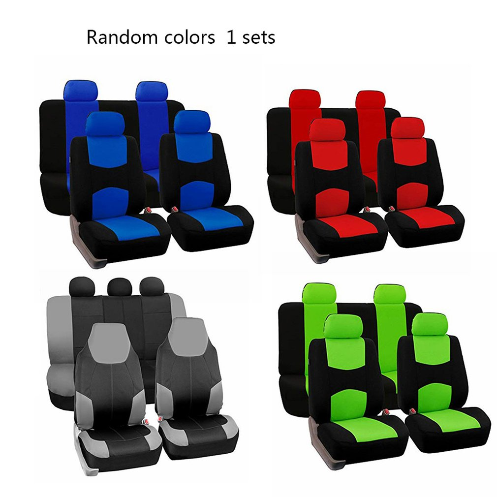 Random Color 9 PCS Of Tablet Universal Car Seat Covers Auto Interior Styling Decoration Protect Fit Car Accessories