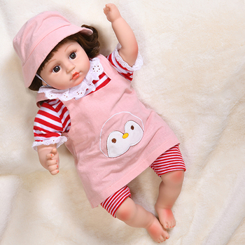 45cm Cute Girl Electric Doll Full Silicone Crying Bebe Doll Reborn Toddler Dolls Laughing Realistic Toys Lifelike Real Baby Doll