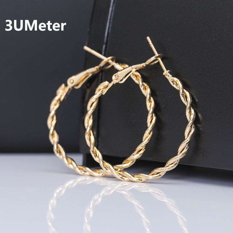 3UMeter Korean Earrings Women Fashion Earrings Hollow Circle Earrings Oorbellen Big Earrings Boho Christmas Gift Bohemian