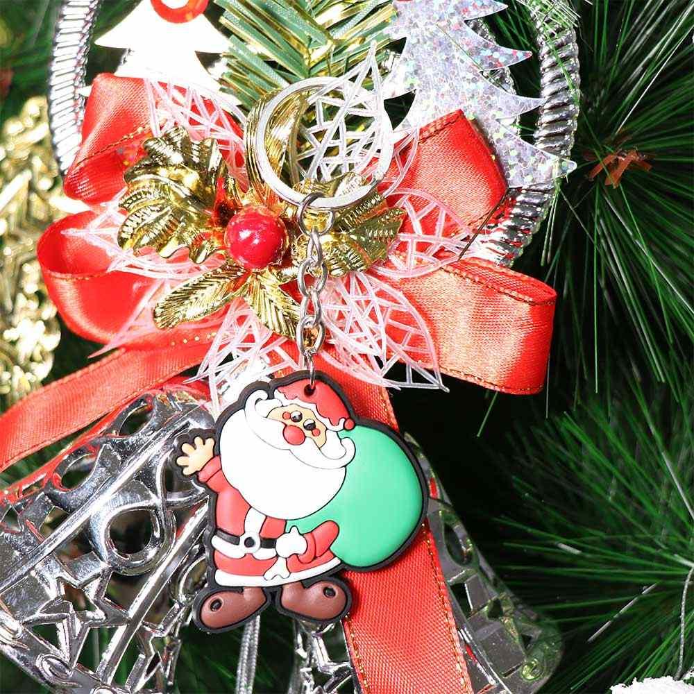 Mini Árvore de Natal Chaveiros Keyfob de Papai Noel Ornamento De Suspensão Do Natal Crianças Brinquedos de Presente Mulheres Homens Jóias