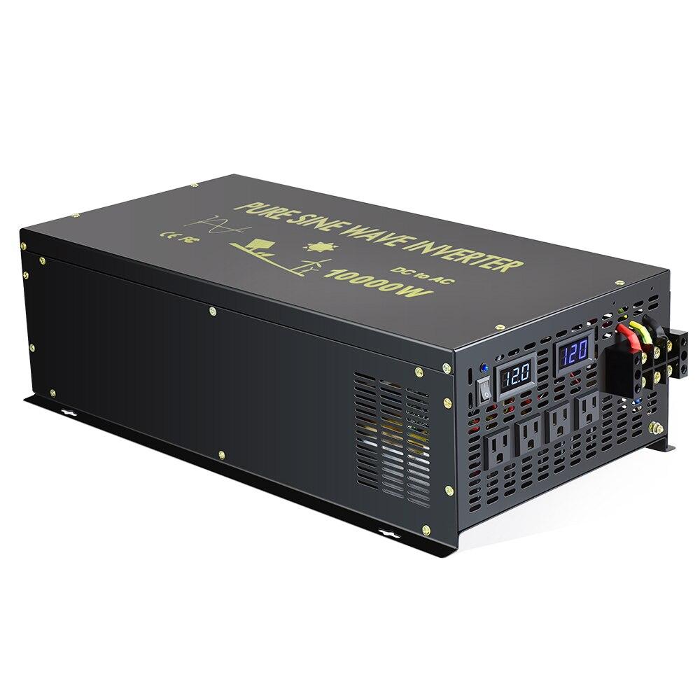 Inversor Solar de onda sinusoidal pura 24V 230V 10000W convertidores de potencia del generador 12 V/24 V /48V DC a 120 V/220 V AC de Control remoto