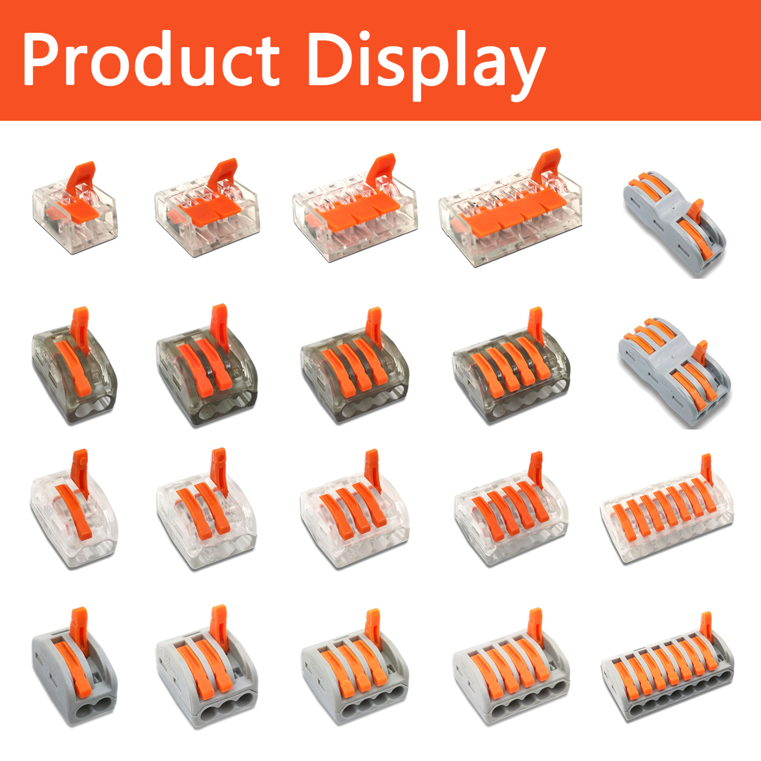 Type 10PCS Electrical Wiring Terminals Cage Spring Universal Fast Terminal Household Connectors For Connection