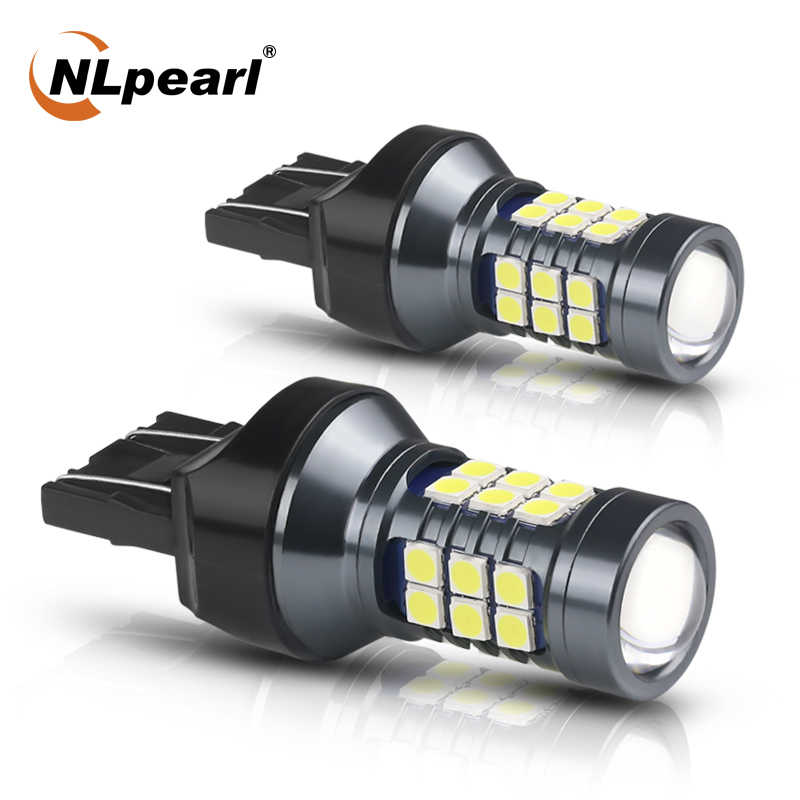 Nlpearl 2x Lampu Sinyal 7440 WY21W W21W LED CANBUS Mobil 12V 3030SMD T20 LED 7443 W21/5W LED Lampu Cadangan Reversing Light
