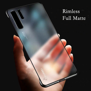 Rimless Matte Phone Case For Huawei P20 P30 Lite P40 Pro Cover For Huawei Honor 8X 10i 8A 20 Pro Mate 20 Pro Case Transparent(China)