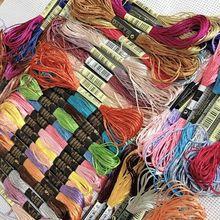 Oneroom 50 цветов шелк хлопок аналогичный DMC Вышивка крестиком хлопок нить шитье, моток пряжи ремесло DIY Вышивка нитки