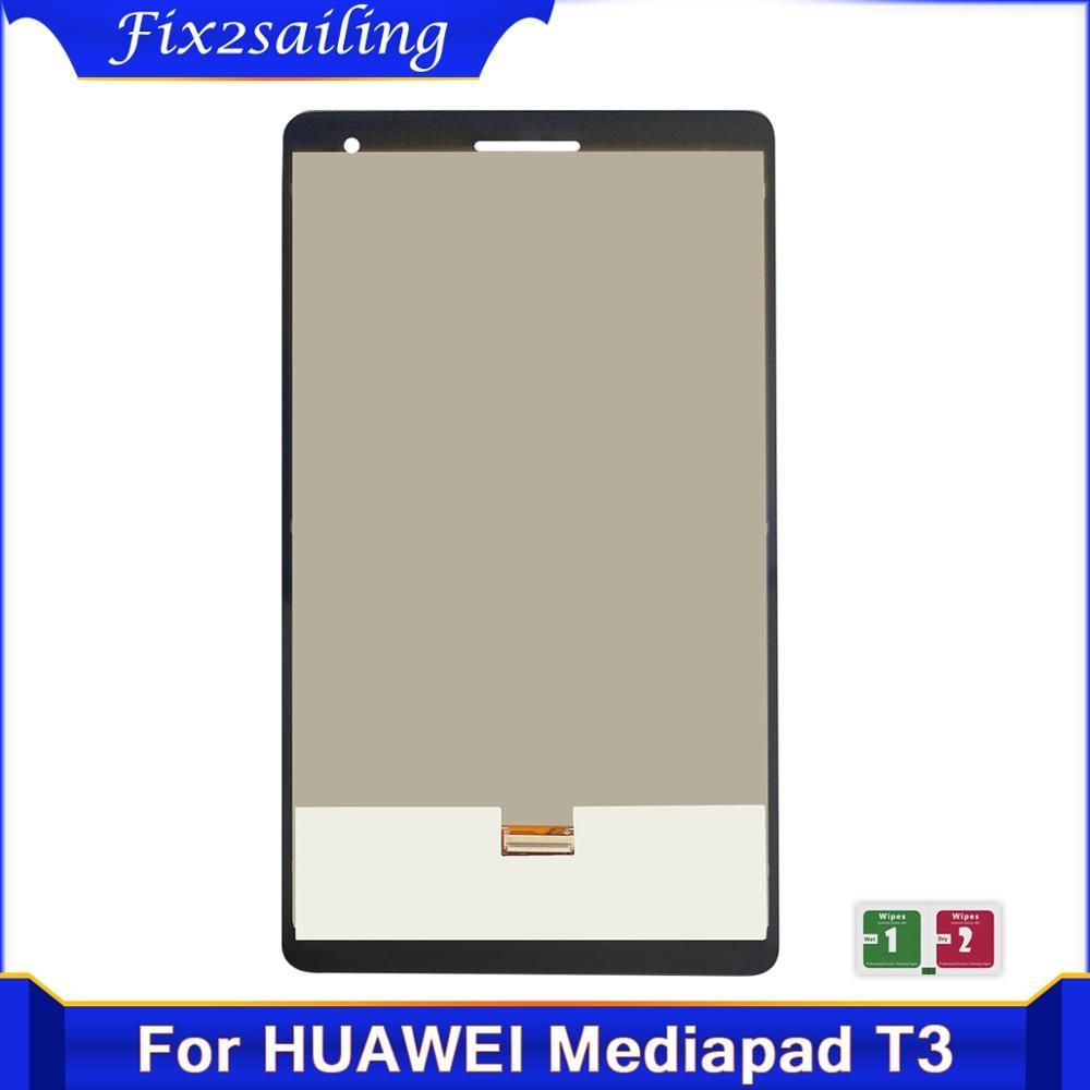 100% prueba de LCD de 7 pulgadas de reemplazo para Huawei Mediapad T3 7,0 3g BG2-U01 BG2-U03 pantalla Lcd con montaje de digitalizador con pantalla táctil