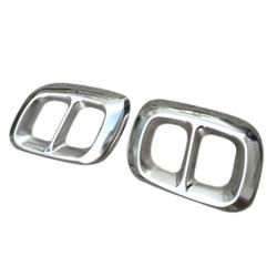 2 szt. Stalowe chromowane dla Mercedes Benz GLA klasa X156 tłumik wydechowy pokrywa wykończenia w Kolektory spalin od Samochody i motocykle na