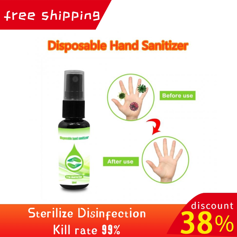 30ml Disposable Hand Sanitizer Antibacterial Hand Sanitizer Wash Free Disinfectant Spray Portable Hand Sanitizer On Sale TSLM1
