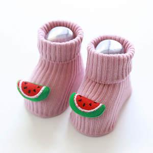 0-3T Cartoon Baby Socks for Newborn Girls Anti Slip Baby Girls Boys Socks Autumn Winter